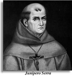 painting of Father Serra by Jose Mosqueda