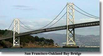 Modern photograph of the San Francisco-Oakland Bay Bridge