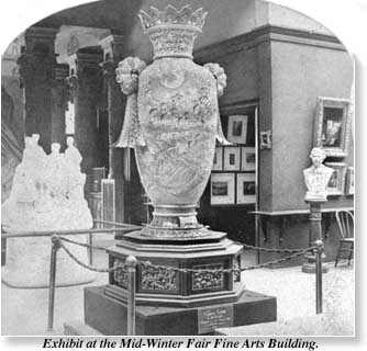 vase on display at the 1894 California Mid-Winter Fair at San Francisco