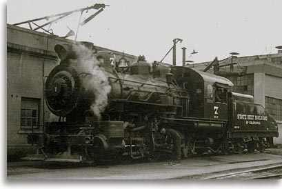 photo of State Belt Railroad engine along the Embarcadero