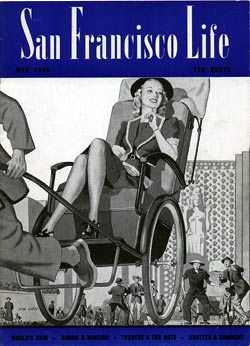 Cover of San Francisco Life magazine for May 1940. Drawing by Stanley W. Galli