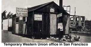 western union 1906 san francisco earthquake operations