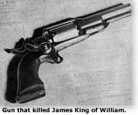 Navy revolver that killed James King of William