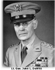 Army photo of Lt. Gen. John L. DeWitt