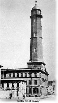 Photograph of the Selby Shot Tower at 2nd and Howard streets