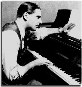 1930s photograph of Meredith Willson sitting at piano